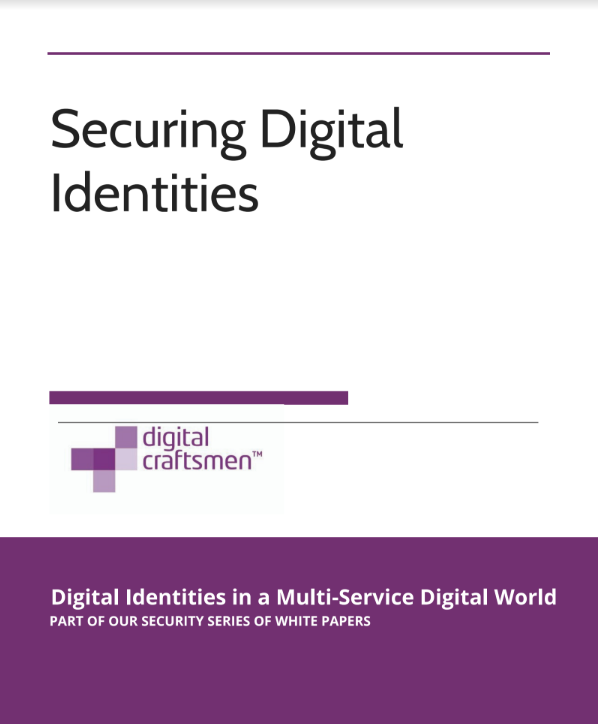 Front cover of Securing Digital Identities White Paper PDF